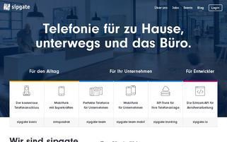 Sipgate Webseiten Screenshot