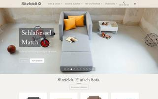 Sitzfeldt Webseiten Screenshot