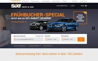 sixt.at Webseiten Screenshot