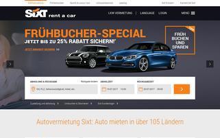 Sixt.ch Webseiten Screenshot
