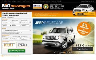 Sixt Neuwagen Webseiten Screenshot