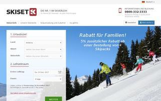 Skiset Webseiten Screenshot