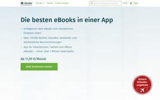 Skoobe Webseiten Screenshot