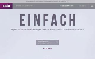 Skrill Webseiten Screenshot