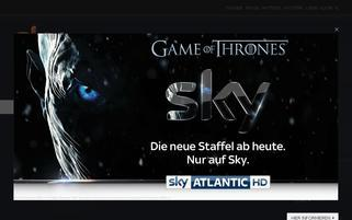 Sky Webseiten Screenshot
