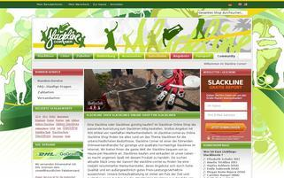 Slackline Corner Webseiten Screenshot