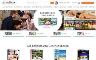 Smartbox Webseiten Screenshot
