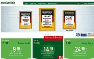 Smartmobil Webseiten Screenshot