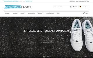 sneakerprofi.de Webseiten Screenshot