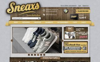 Sneaxs Webseiten Screenshot