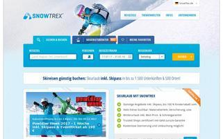 SnowTrex Webseiten Screenshot