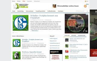 Soccer Fans Webseiten Screenshot