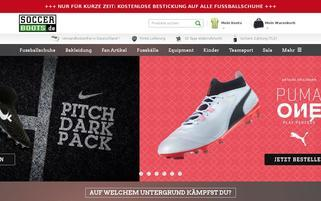 soccerboots.de Webseiten Screenshot