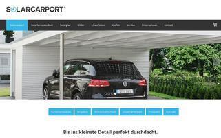 solarcarporte.de Webseiten Screenshot