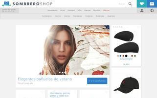 sombreroshop.es Webseiten Screenshot