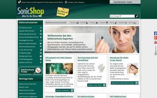 SonicShop Webseiten Screenshot