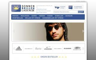 Sonnenbrillenladen Webseiten Screenshot