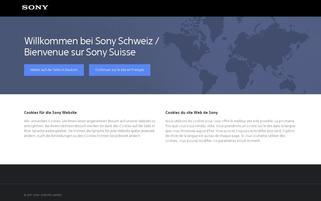 Sony CH Webseiten Screenshot
