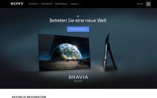 Sony Webseiten Screenshot