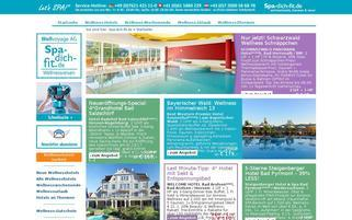 Spa dich fit Webseiten Screenshot