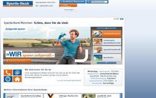 Sparda-Bank München Webseiten Screenshot