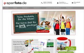 Sparfoto Webseiten Screenshot