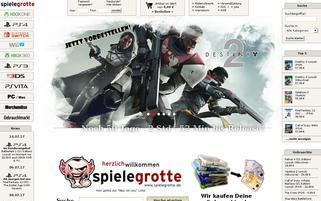 SpieleGrotte Webseiten Screenshot