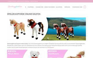 spielzeugpferd.com Webseiten Screenshot
