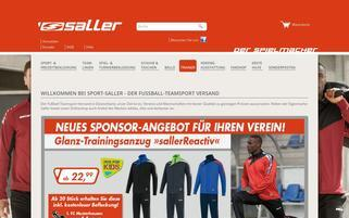 Sport Saller Webseiten Screenshot