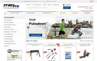 Sport Tec Webseiten Screenshot