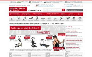 Sport-Tiedje Webseiten Screenshot