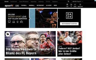sport1.de Webseiten Screenshot