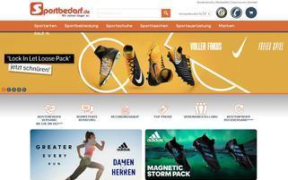 Sportbedarf.de Webseiten Screenshot