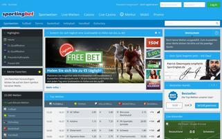 Sportingbet Webseiten Screenshot