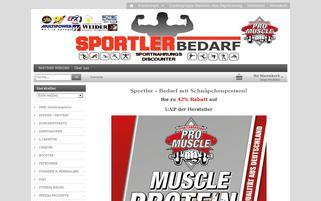 Sportler-Bedarf Webseiten Screenshot