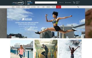 Sports Shoes Webseiten Screenshot