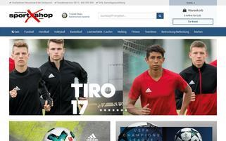 SportXshop Webseiten Screenshot