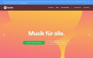 Spotify Webseiten Screenshot