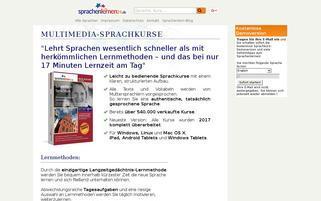 Sprachenlernen24 Webseiten Screenshot
