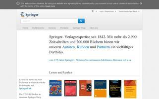 Springer Webseiten Screenshot
