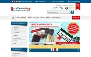 Staffeleien-Shop Webseiten Screenshot