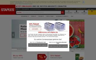 Staples Webseiten Screenshot