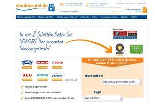 Staubbeutel.de Webseiten Screenshot