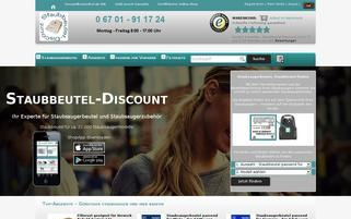 Staubbeutel Discount Webseiten Screenshot