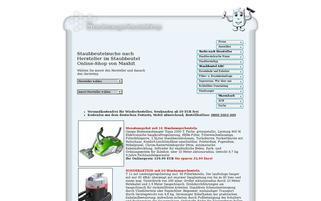 Staubsaugerbeutelshop Webseiten Screenshot