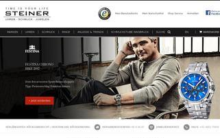 Steiner-Juwelier.at Webseiten Screenshot