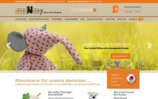 steiner-plueschshop.de Webseiten Screenshot