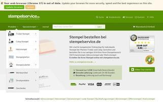 Stempelservice Webseiten Screenshot
