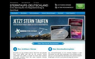 sterntaufe-deutschland.de Webseiten Screenshot