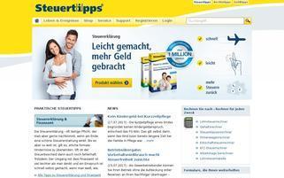 Steuertipps Webseiten Screenshot